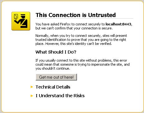 Connection Untrusted